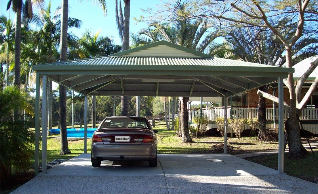 Carports Brisbane Kit Gable, Hip Roof, Double, Dutch