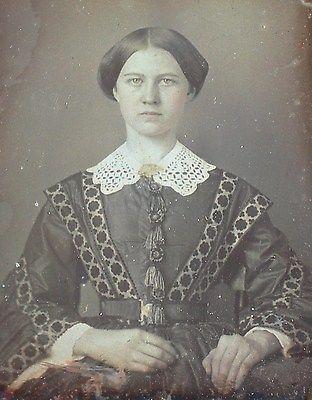 Daguerreotype Young Woman Fancy Dress