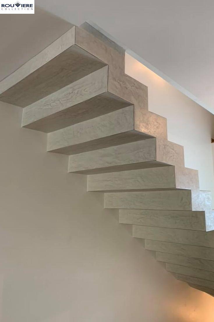 Modernisez Vos Escaliers Avec Un Revetement Enduit Beton Cire Beton Cire Escalier Escalier Beton