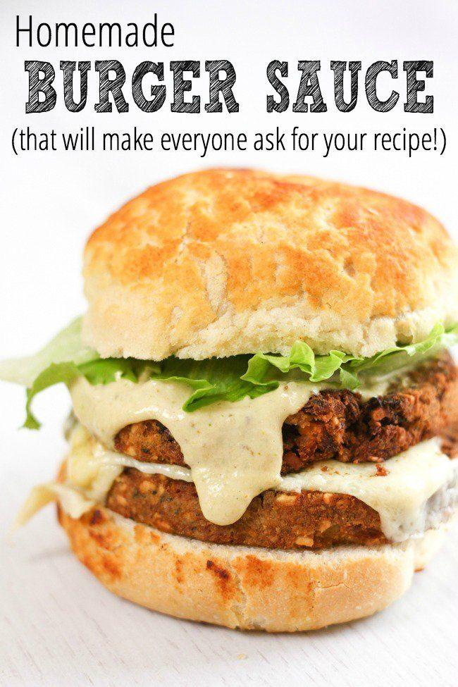Homemade Burger Sauce Homemade Burgers Burger Sauce Burger Sauces Recipe