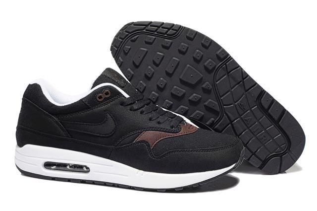 Remise Meilleur Nike Air Max 1 Homme Chaussures-Noir-Brun-Vente en Ligne