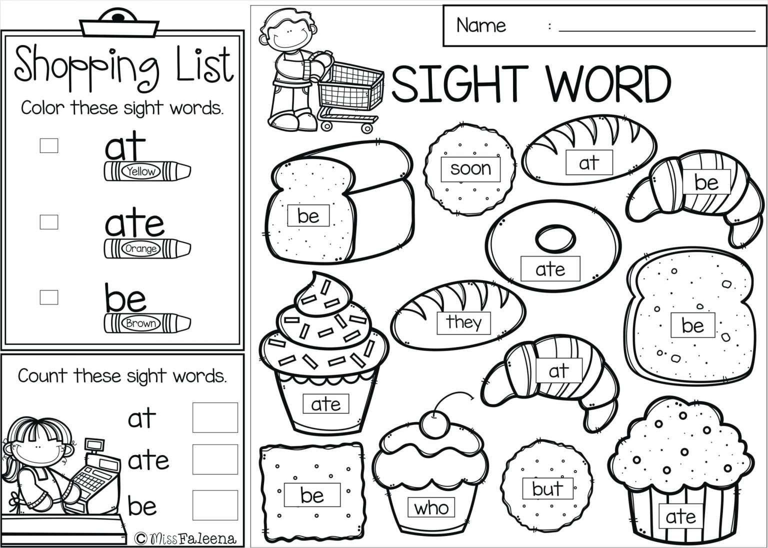 Worksheet On Myself For Kindergarten and Kindergarten Worksheets