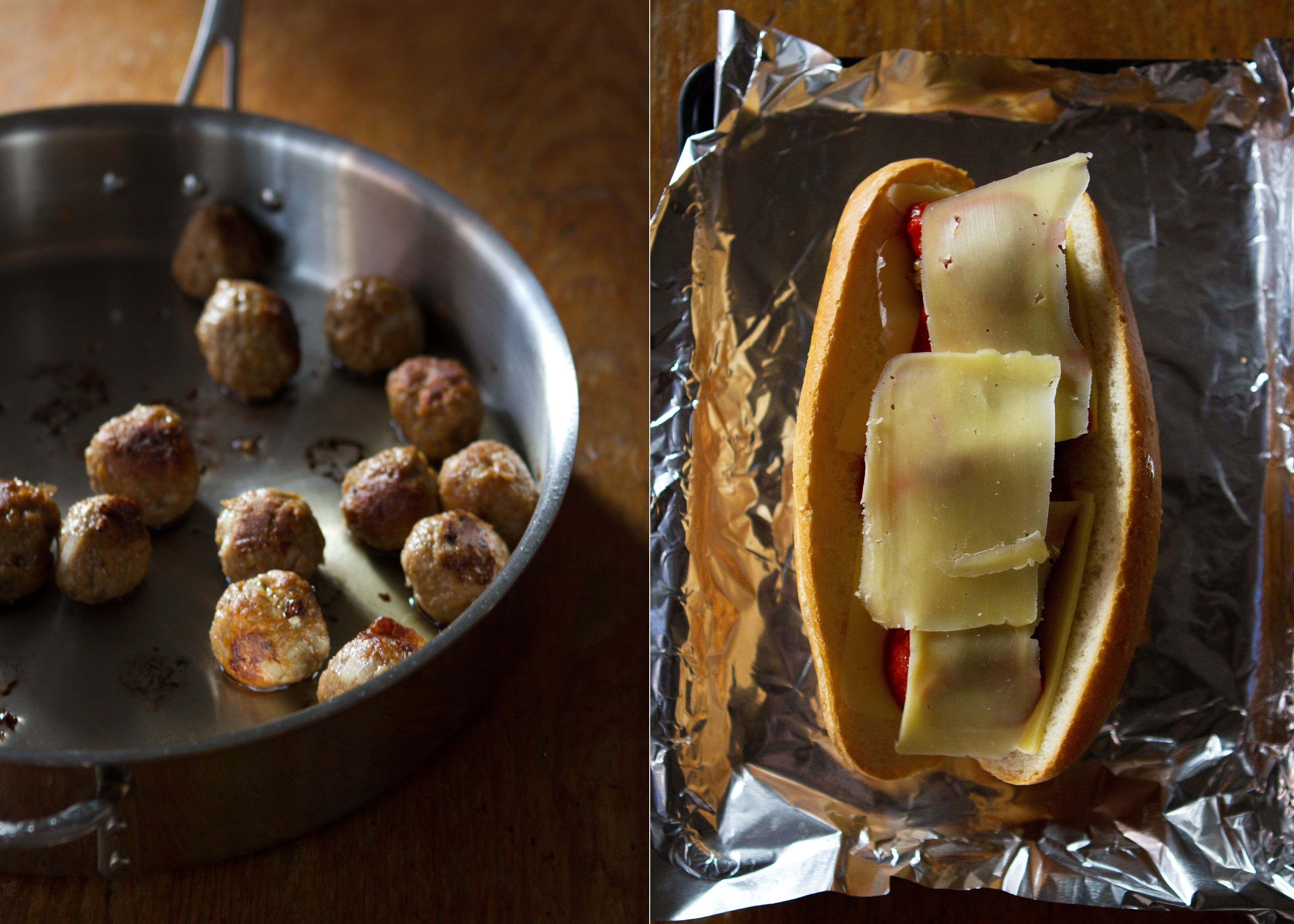 {Recipe: Vegetarian Meatball Parm Sub} » A Thought For Food