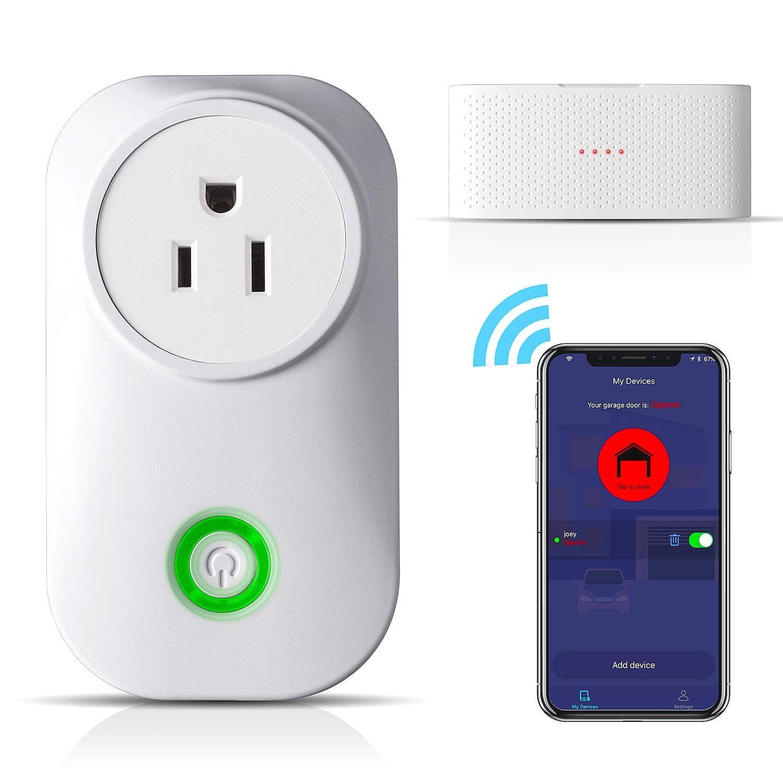 Meross Smart Wi Fi Garage Door Opener Remote App Control Compatible With Alexa Google Assistant And Ifttt No Hub Needed Garage Door Opener Remote Garage Doors Garage Door Opener