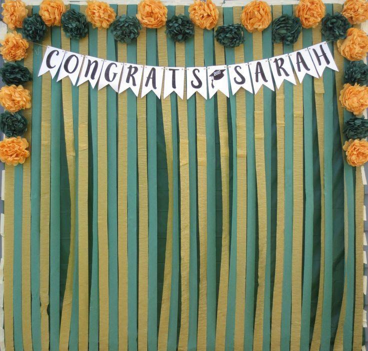 A cool diy graduation photo backdrop graduation party