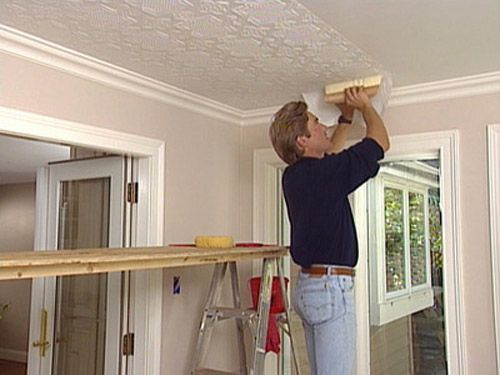 Pin By Carrie York On New House Ideas Wallpaper Ceiling Ceiling Treatments Ceiling Decor