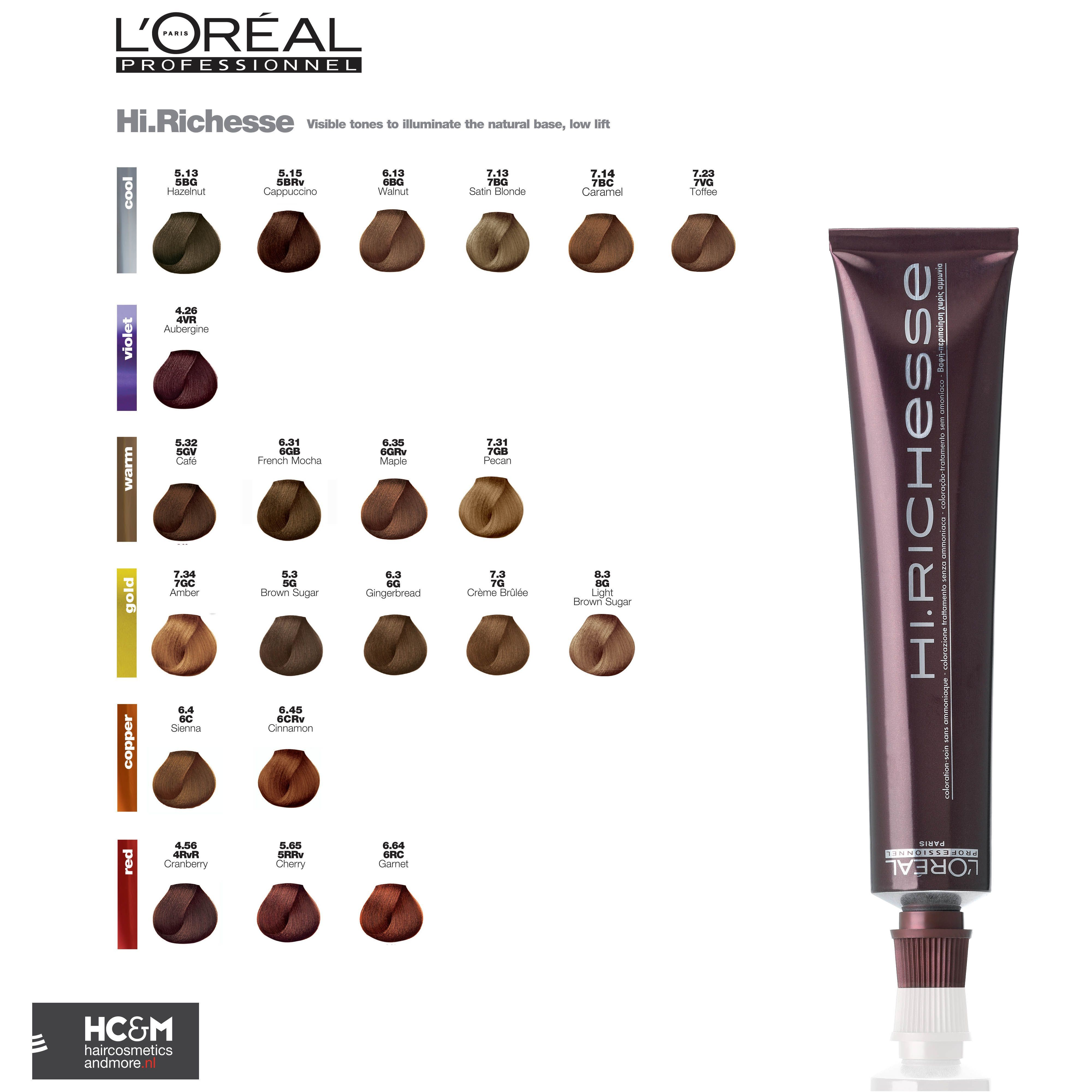 L Oreal Dia Richesse Color Chart Coloringsite