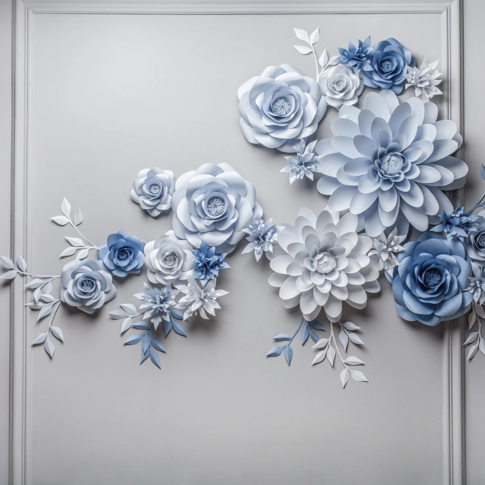 WEDDING PAPER FLOWER BACKDROP - PAPER FLOWER WALL
