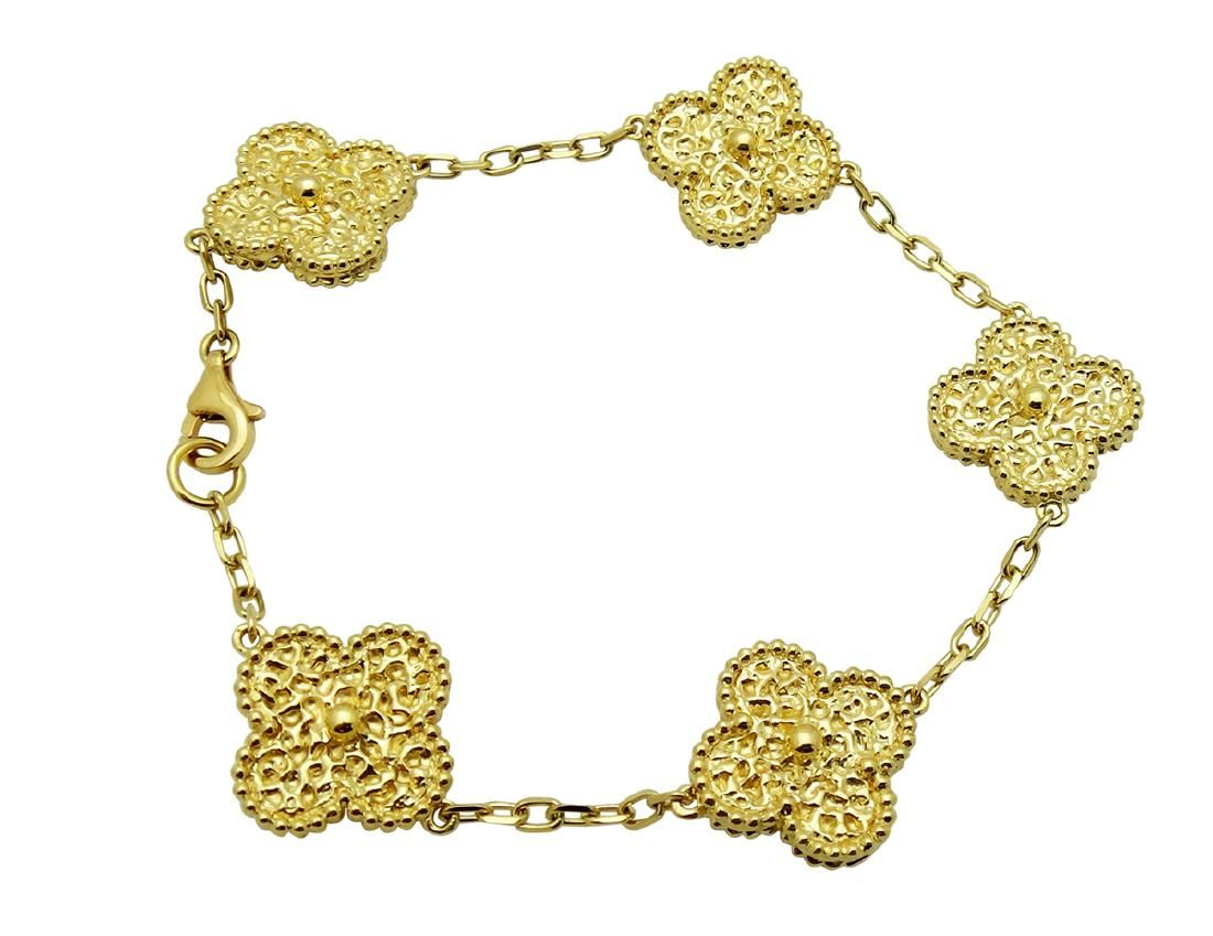 Vint van cleef u arpels alhambra motif gold bracelet collection