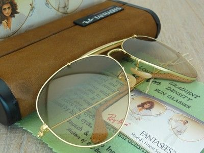 bedf9dc23b5c VINTAGE RAY BAN B USA 62[]16 OUTDOORSMAN FANTASEES OSTRICH LEATHERS  TEMPLE,NOS
