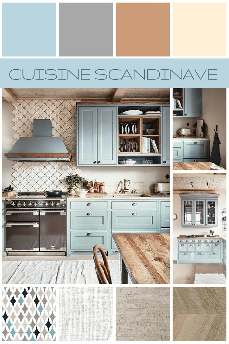 Cuisine de style scandinave Les planches d'ambiance