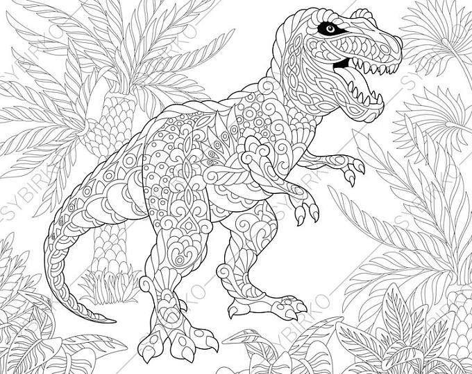 Pterodactyl Dinosaur. Pterosaur. Dino Coloring Pages
