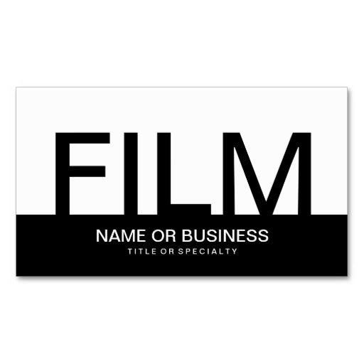 Bold film business cards make your own business card with this bold film business cards make your own business card with this great design all flashek Gallery