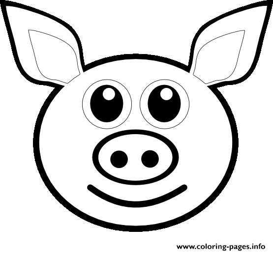 print pig emoji coloring pages