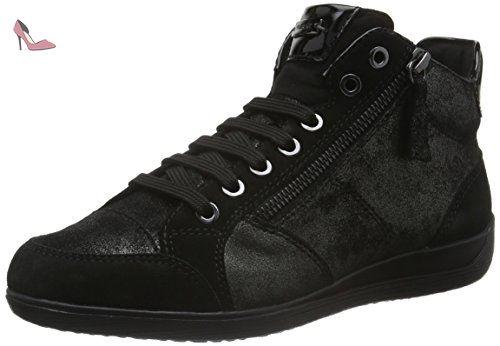 Illusion B, Sneakers Hautes Femme, Noir (Black), 36 EUGeox