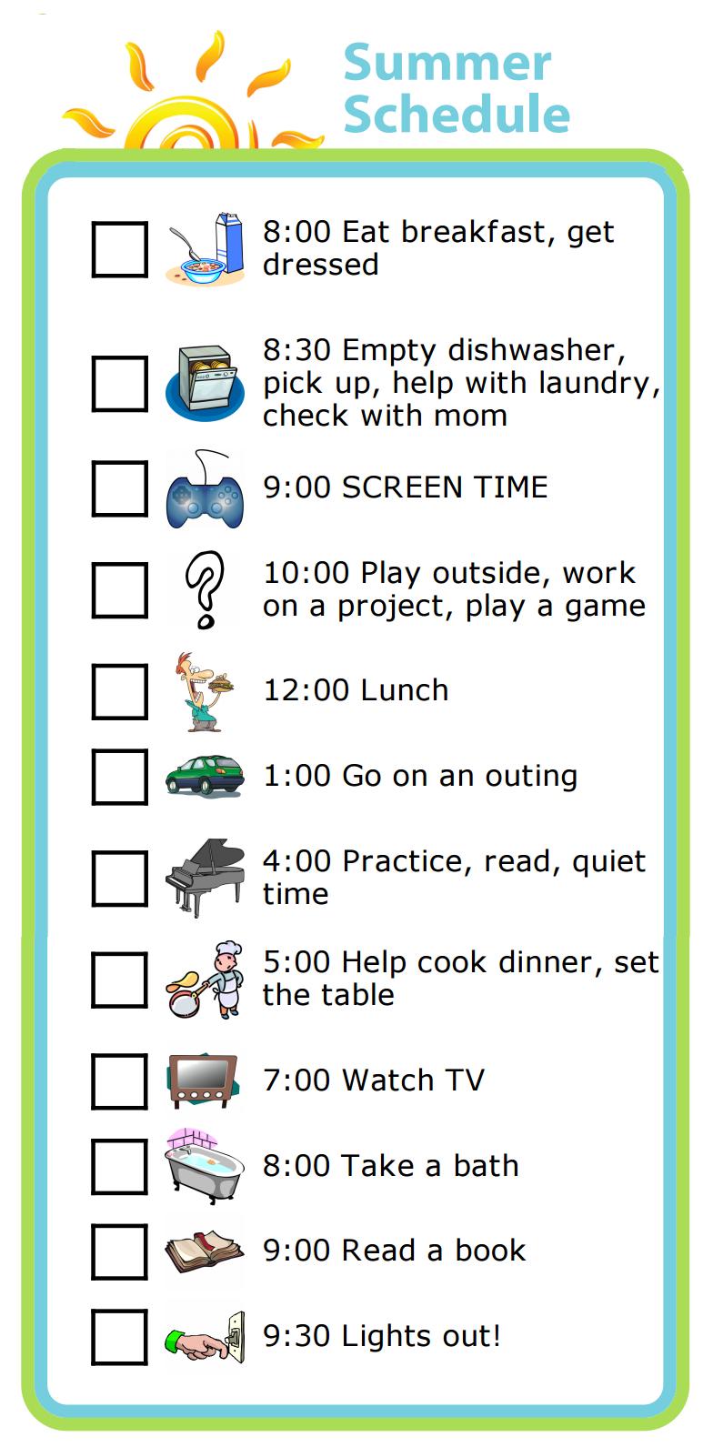 chores schedule maker