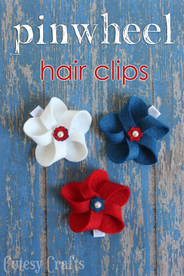 DIY 4th Of July Hair Bows WOOL AND WOOL FELT PROJECTS