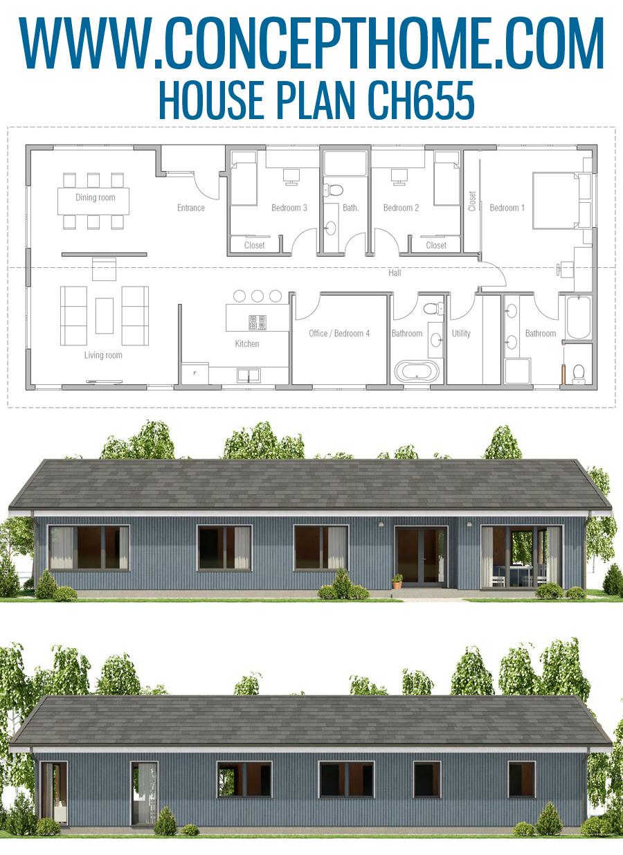 House Plan Ch655 House Plans New House Plans House Layouts