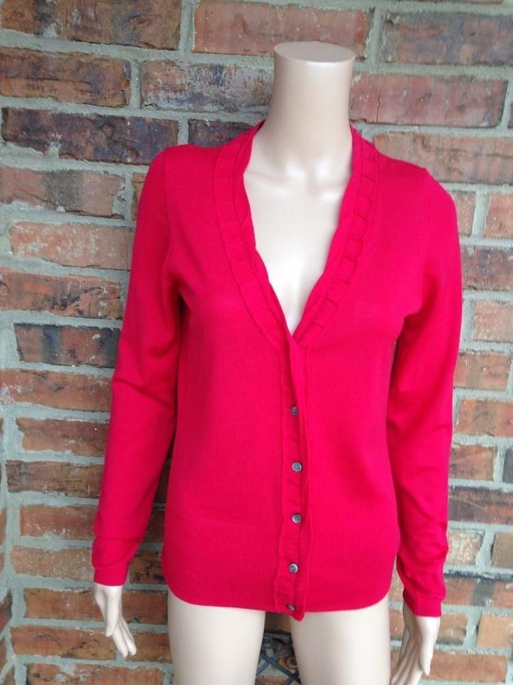 ELIE TAHARI Women Cardigan Size M 100% Merino Wool Sweater Long ...