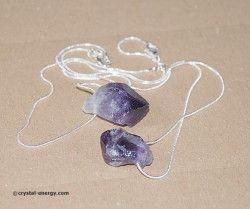 Jolis pendentifs en améthyste naturelle pierre brute d\'une ...