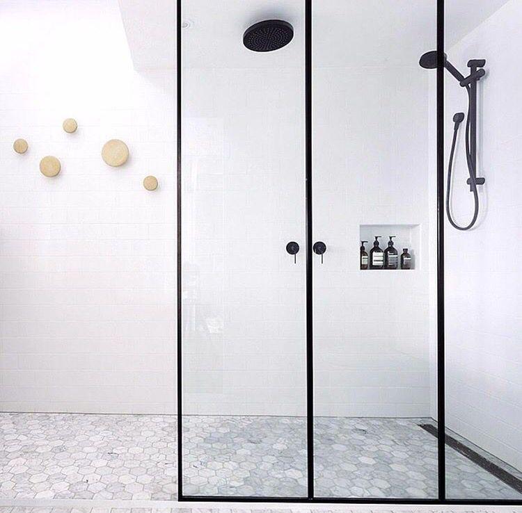 I Like The Distance Between Normal Showerhead And The Rain Head Monochrome Bathroom Shower Panels Bathroom Shower