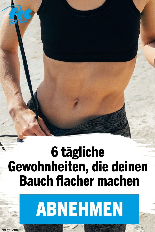 Photo of Abnehmen: 6 tägliche Routinen für einen flachen Bauch