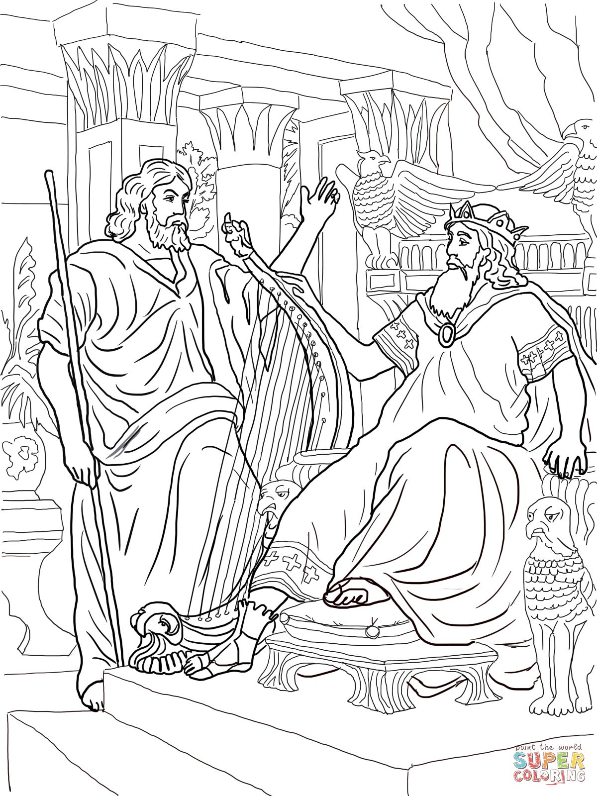 David And Bathsheba Coloring Page