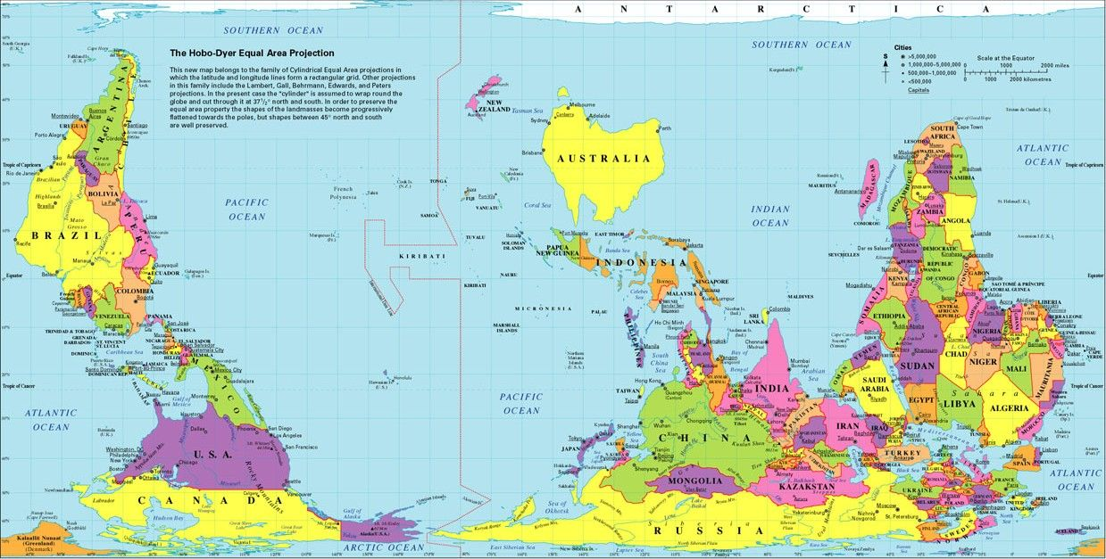 Reverse World Map and Australia scratching their brains map by – Australia Map in World