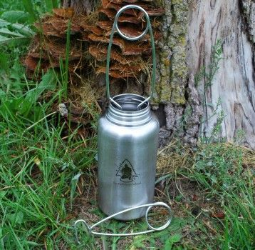 Bottle Hanger - Fits Guyot Designs Nalgene and KleanKanteen stainless water bottles. Use as a bail, to prevent burning fingers and spilled drink.
