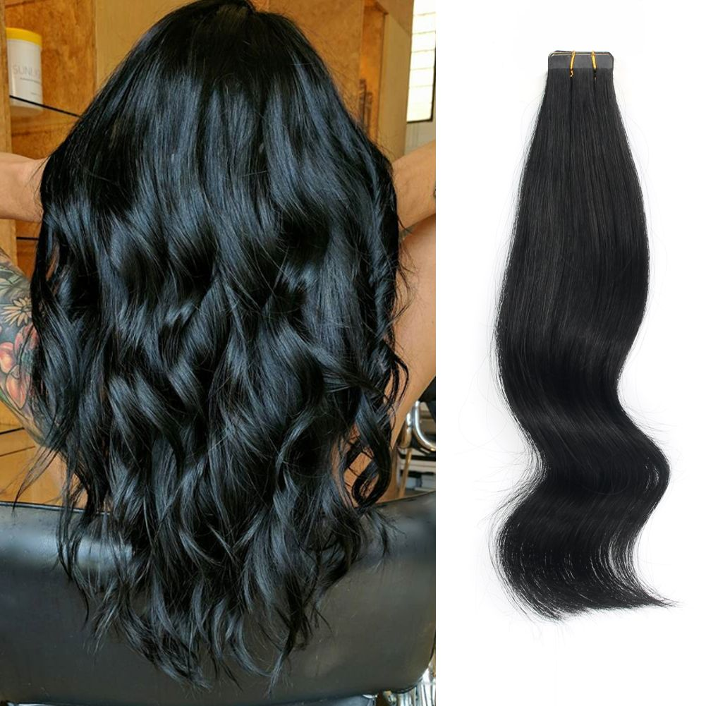 Amazing Beauty Hair Extensions Tape In Hair Extension 1 Jet Black