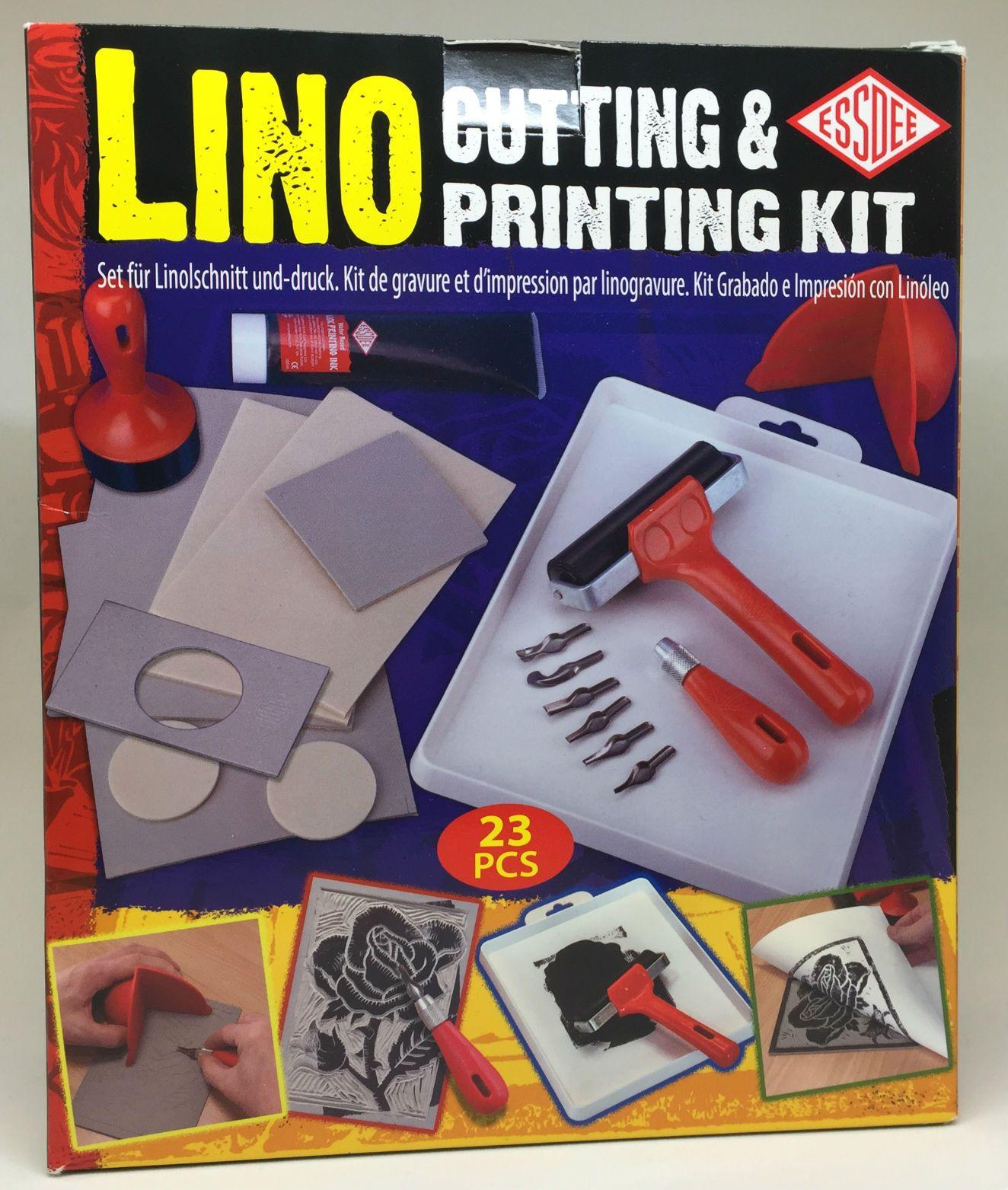 ESSDEE LINO CUTTING /& PRINTING KIT 23 PIECES SET CREATE STAMPS /& PRINTS