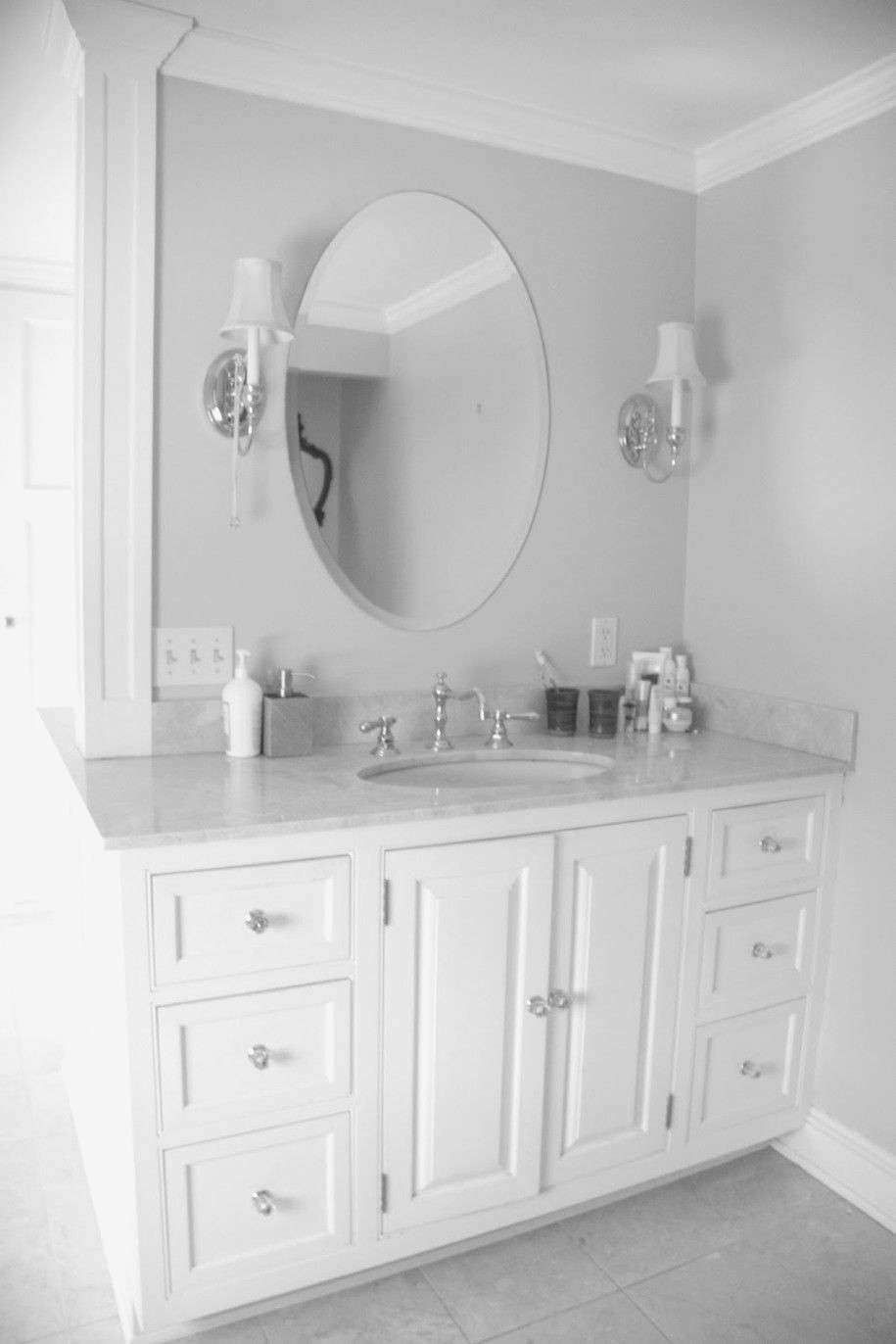 New White Bathroom Vanities Lowes Luxury Oval Mirror Luxurybathroomcabinetsuk White Vanity Bathroom Bathroom Ideas Uk