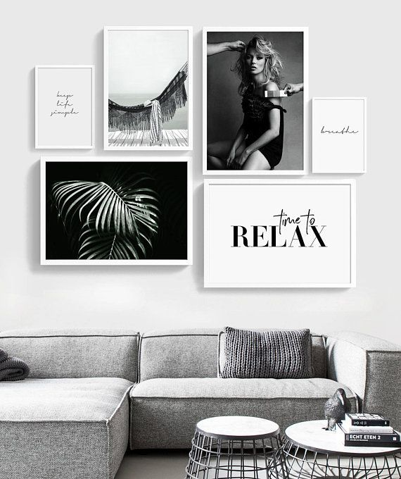 Fashion Gallery Wand, Galerie Wand Set, Fashion Wandkunst, Set 6 Drucke, Fashion Set Print, Printable Gallery Wall Set, skandinavische Kunst