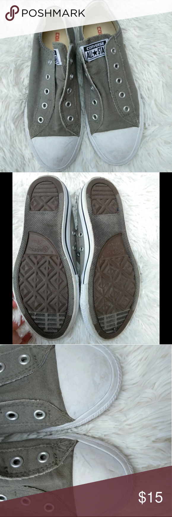 893878954908b0 Slip on converse Worn twice Size 3 in kids which is a size 6 women s Tags  converse slipon sneakers Converse Shoes Sneakers