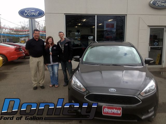 We would like to thank Kathryn S. and Glenn N. for taking the time to come see us at Donley Ford Galion. We hope you love your 2016 Ford Focus. We look forward to seeing you again. #DiscovertheDonleyDifference