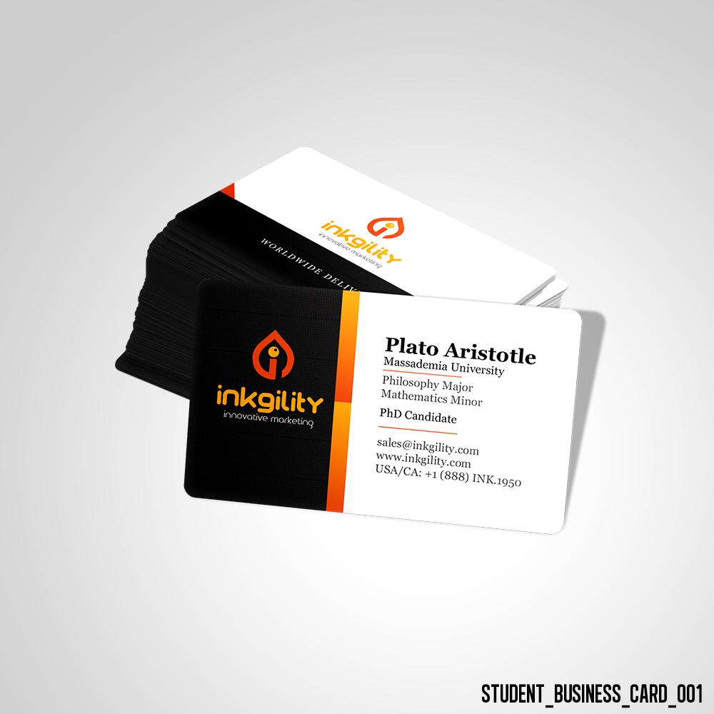 Student Business Card Student Business Cards Business Card Template Psd Examples Of Business Cards
