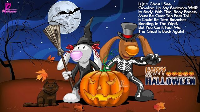 Amazing Poetry: Halloween Backgrounds Wallpapers And Wishes Cards With Children  Poems
