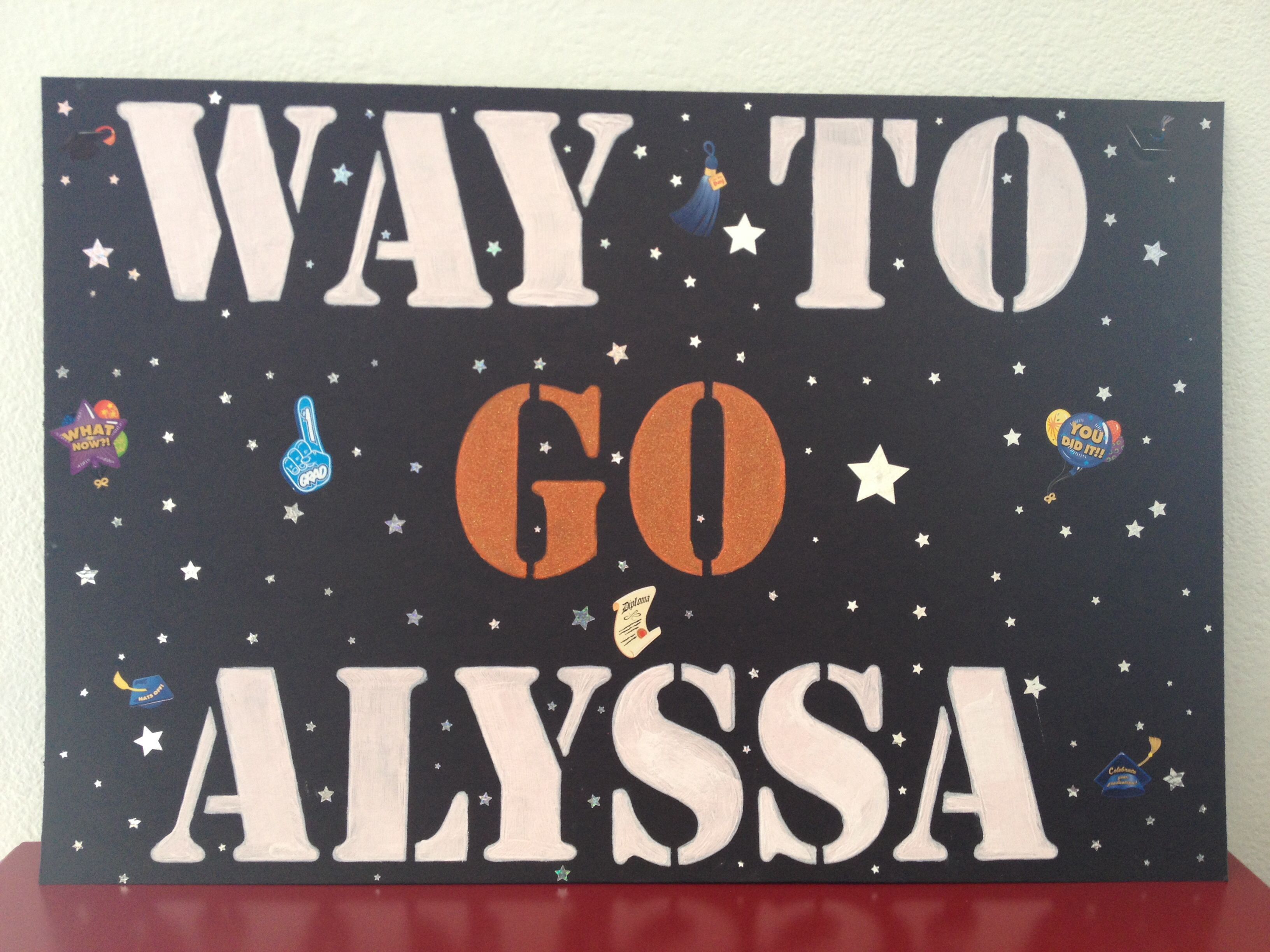 graduation ceremony sign to cheer on my grad alyssa s graduation