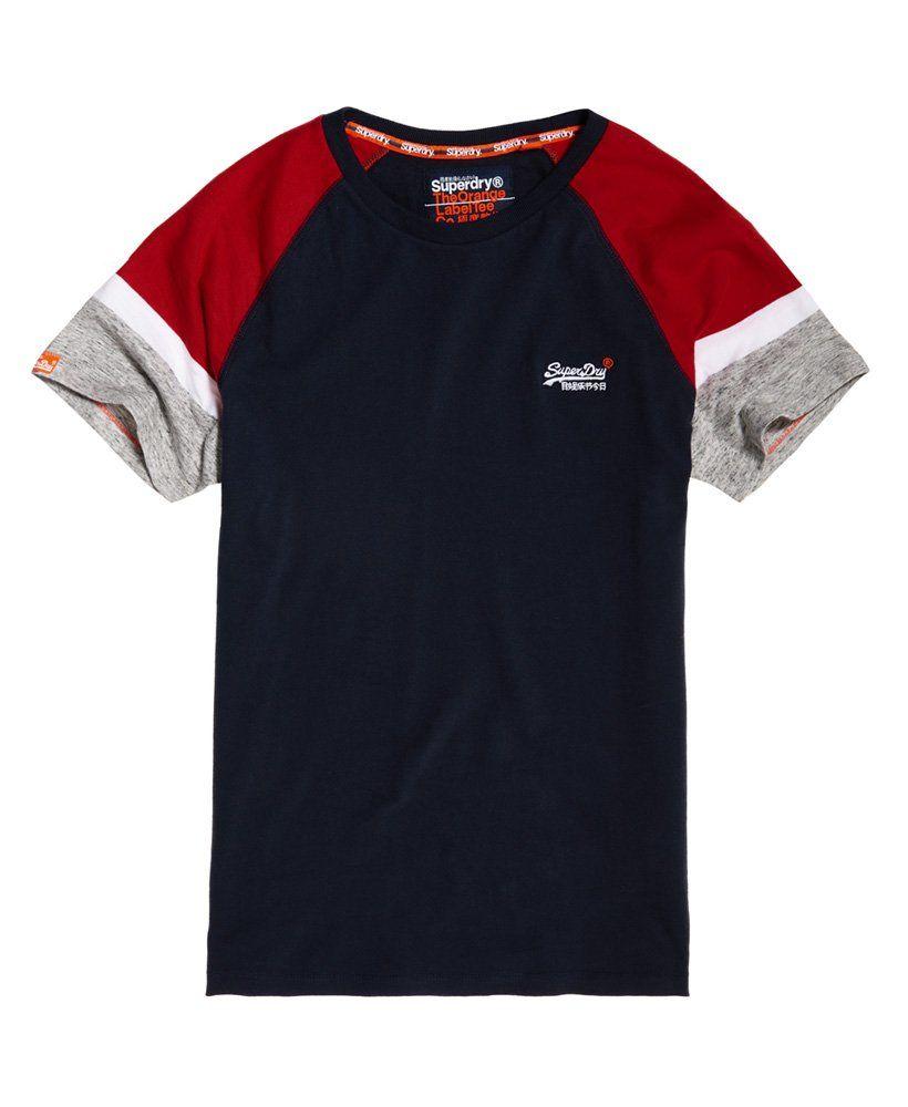 e08cc377aa Superdry Camiseta de manga corta estilo béisbol Engineered
