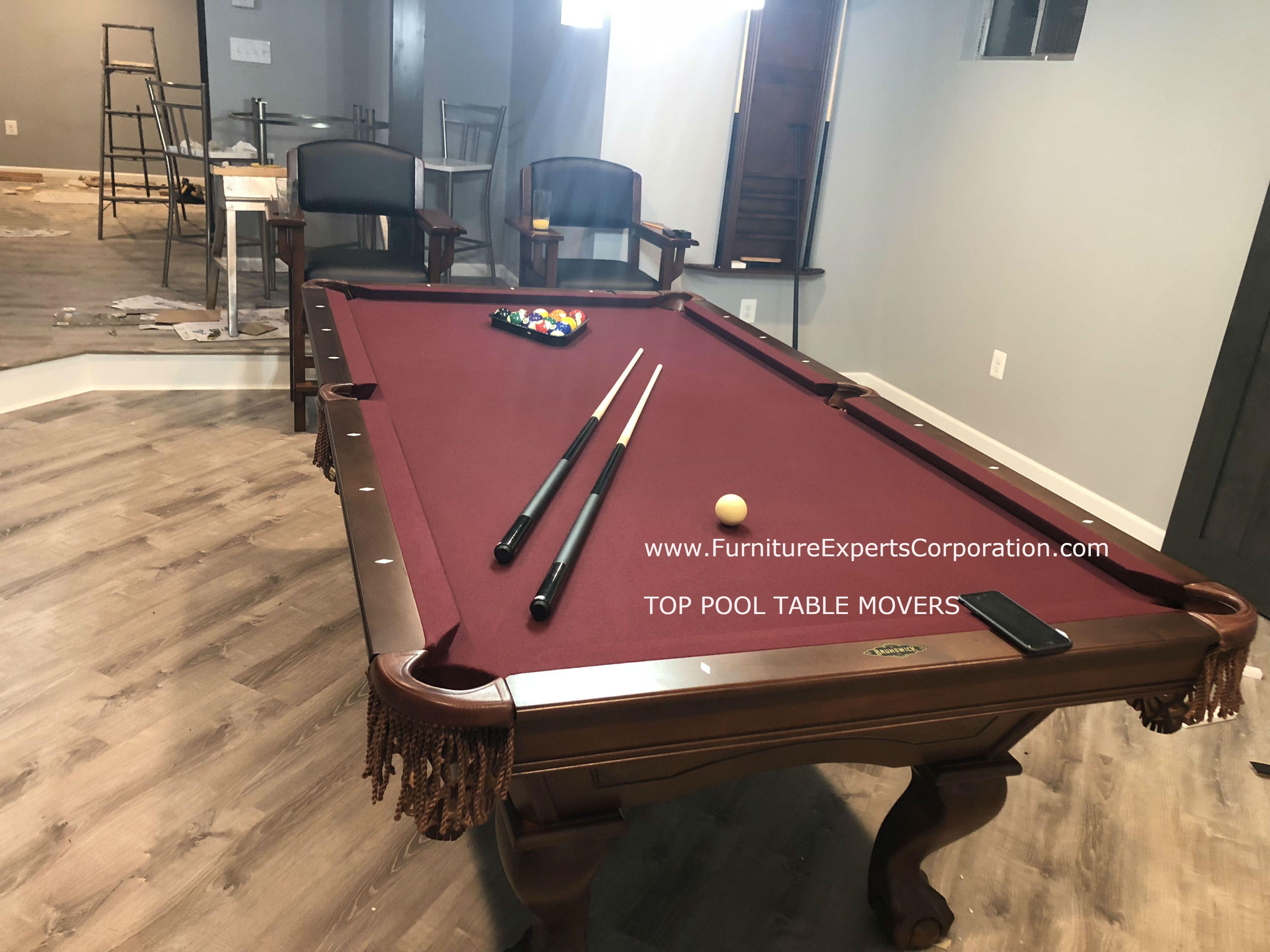 TOP POOL TABLE INSTALLERS & MOVERS Brunswick billiards