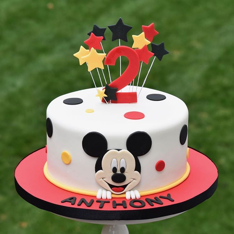 Mickey Mouse Birthday Cake Mickey Birthday Cakes Mickey