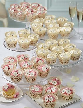 48 Large Cupcakes (Assorted) (Wedding)= m and s