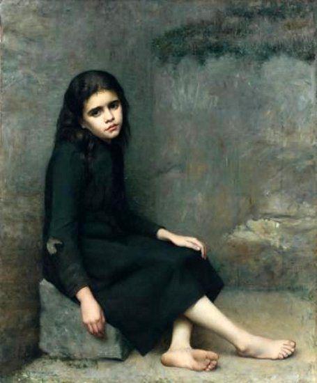 La Mendiante Léon Bazile Perrault (1832 – 1908, French)