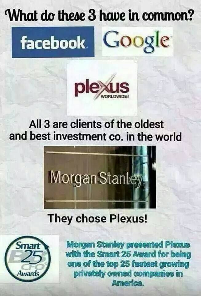 Plexus is a company to be proud to be associated with!