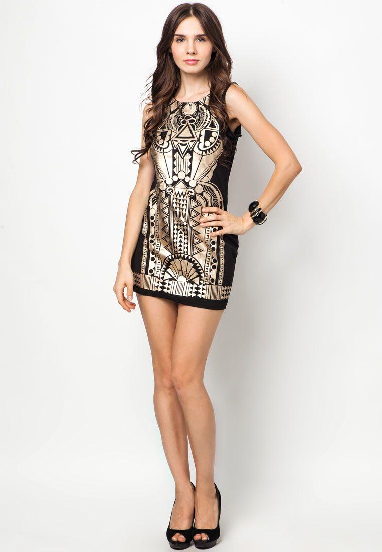 Something Borrowed Metal Gold Party Dress | ZALORA Singapore | Women's  Fashion | Pinterest | Gold party dress, Gold party and Gold
