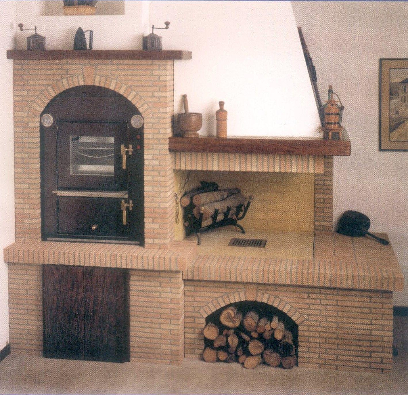 Forno da incasso cucina rustica pinterest camini - Cucine a legna da incasso ...