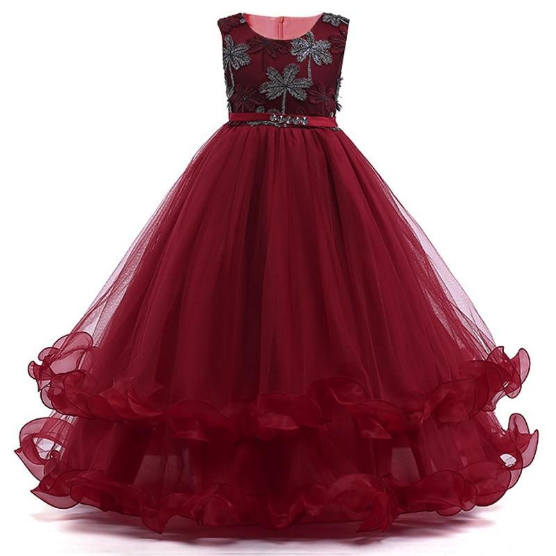 61ffbef33 Dark red little girl princess dresses | Girls Clothing | Little girl ...