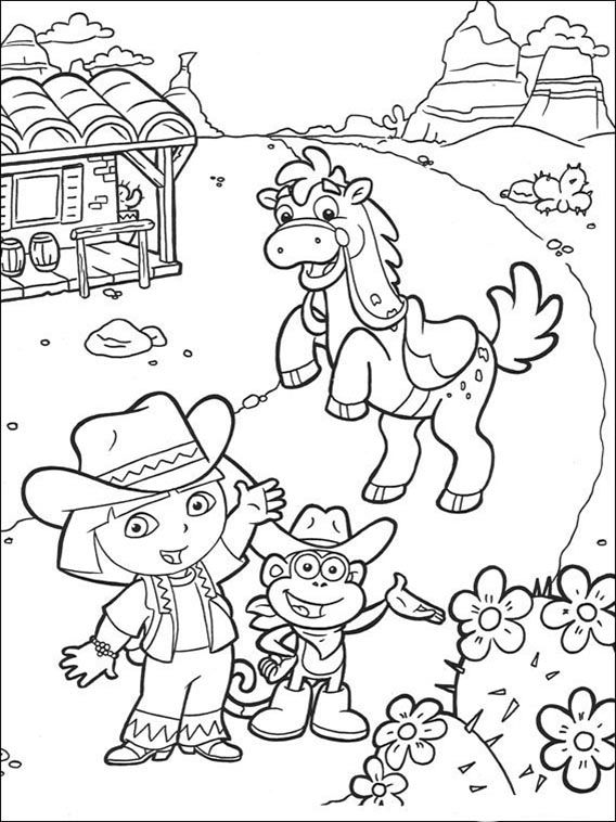 Dora the Explorer Coloring Pages 61 | Coloring pages for kids ...