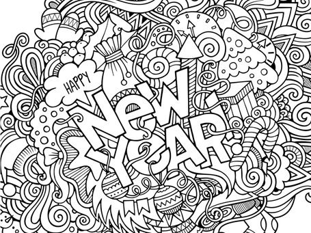 Happy New Year Coloring Pages Holiday Coloring Pages