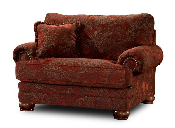 American Furniture Warehouse    Virtual Store    Burlington   Sienna Red  Tapestry Chair 1